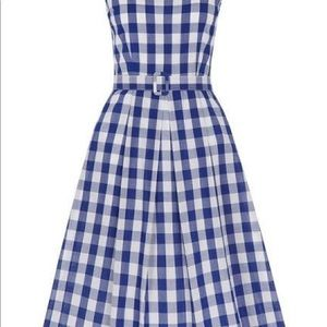 Modcloth Lindy Bop retro gingham dress m